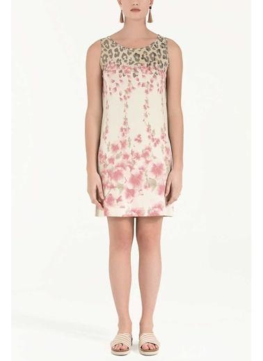 Desenli Mini Askılı Elbise-Societa